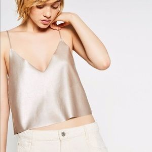 Zara cute metallic top